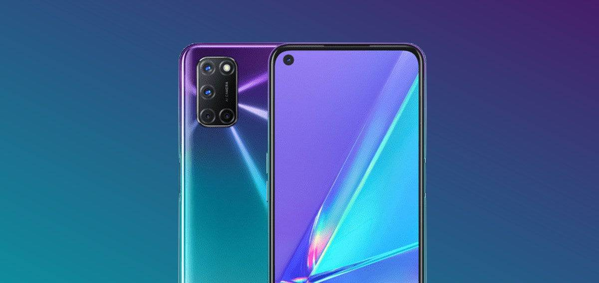 Смартфон Oppo A92 Aurora Purple